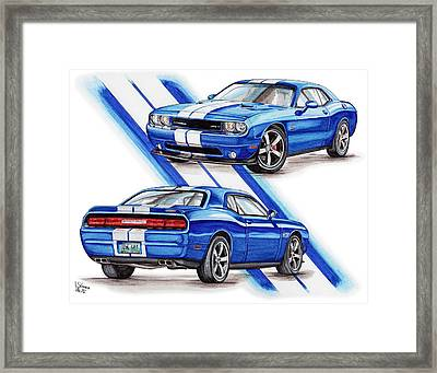 2011 Dodge Challenger Srt Framed Print by Shannon Watts