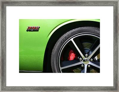 2011 Dodge Challenger Srt8 392 Hemi Green With Envy Framed Print by Gordon Dean II