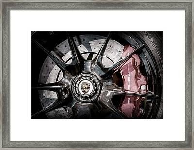 2011 Porsche 997 Gt3 Rs 3.8 Wheel Emblem -0989ac Framed Print by Jill Reger