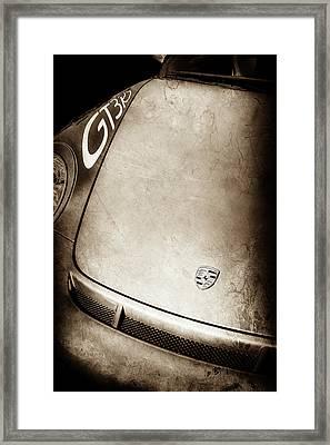 2011 Porsche Gt 3 Rs Hood Emblem -0710s Framed Print by Jill Reger