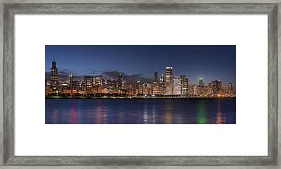 2012 Chicago Skyline Framed Print by Donald Schwartz
