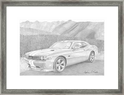 2012 Dodge Challenger Srt8 Classic Car Art Print Framed Print by Stephen Rooks