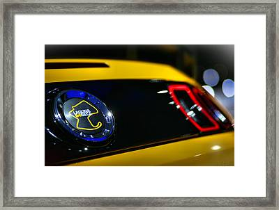 2012 Ford Mustang Boss 302 Laguna Seca Framed Print by Gordon Dean II