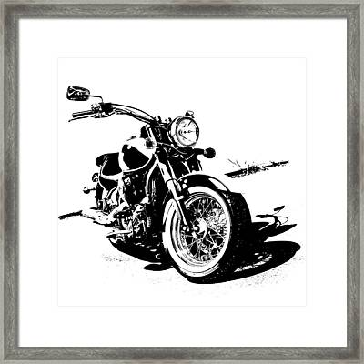 2013 Kawasaki Vulcan Classic Graphic Framed Print by Melissa Smith