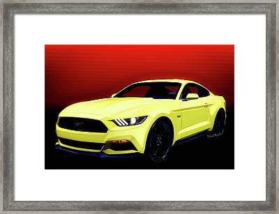 50th Anniversary 2014 1/2 Ford Mustang 5.0 6th Generation Framed Print by Chas Sinklier