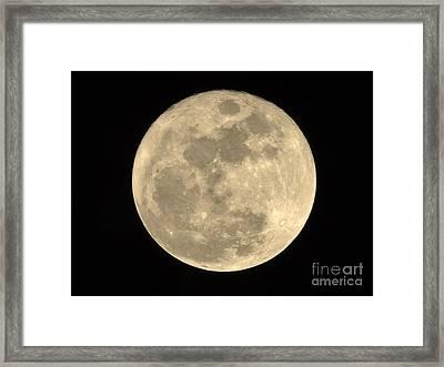 2015 Christmas Full Moon Framed Print by D Hackett