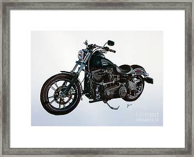 2015 Harley Davidson Dyna Framed Print by Janet Felts