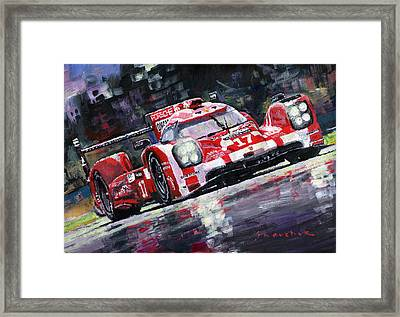 2015 Le Mans 24h Porsche 919 Hybrid Framed Print by Yuriy Shevchuk