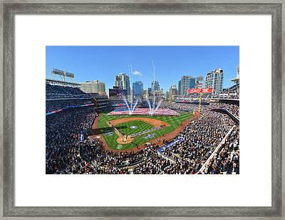 2015 San Diego Padres Home Opener Framed Print by Mark Whitt