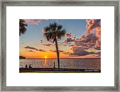 Sunset Over Lake Eustis Framed Print by Christopher Holmes