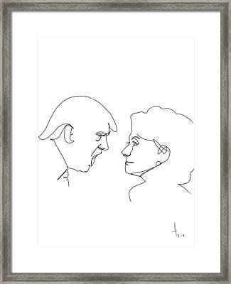 2016 Election Framed Print by Harold Belarmino