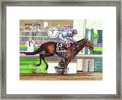 2016 Kentucky Derby Winner Nyquist Framed Print by Dave Olsen