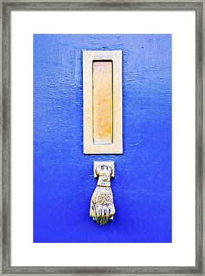 Blue Door Framed Print by Tom Gowanlock