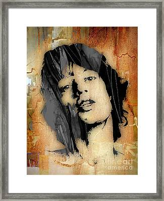 Mick Jagger Collection Framed Print by Marvin Blaine