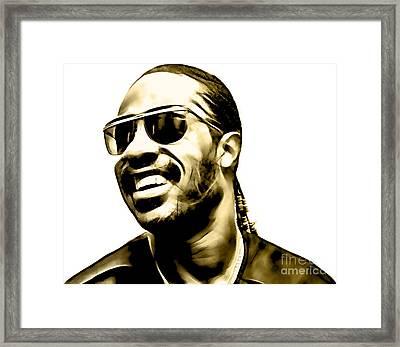 Stevie Wonder Collection Framed Print by Marvin Blaine