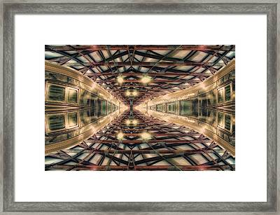 22nd Century Floating Cities Interior Structural Beams Framed Print by Thomas Woolworth