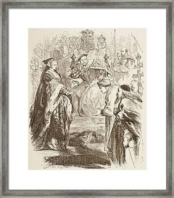 Illustration By Sir John Gilbert For Framed Print by Vintage Design Pics