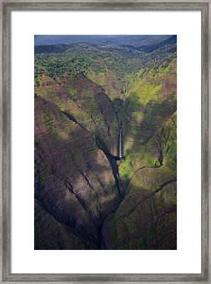 Kauai Canyons Framed Print by Steven Lapkin