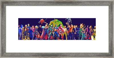 New Avengers The Framed Print by Egor Vysockiy