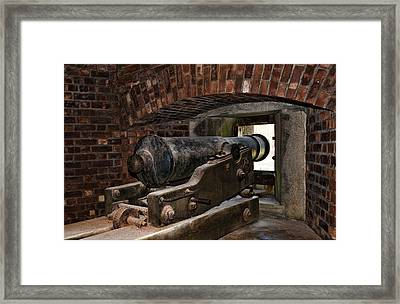 24 Pounder Cannon Framed Print by Peter Chilelli