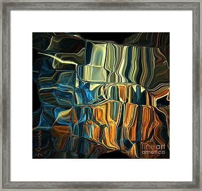 241-digital Crystals Framed Print by Silvia Giussani