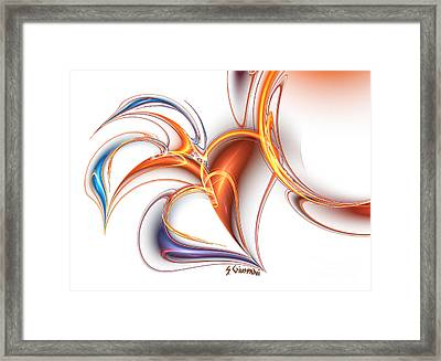 252-hearts In Love Framed Print by Silvia Giussani