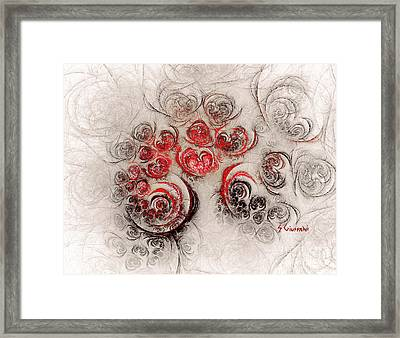 254-garden Of Roses Framed Print by Silvia Giussani