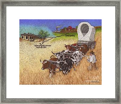 25th Anniversary Santa Fe Trail Association Framed Print by Tracy L Teeter