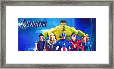 Movies Superhero Framed Print by Egor Vysockiy