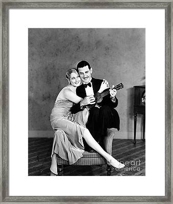 Silent Film Still: Couples Framed Print by Granger