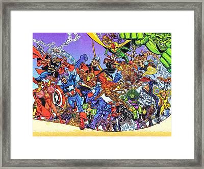 Superhero Comics Framed Print by Egor Vysockiy
