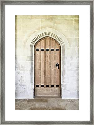 Wooden Door Framed Print by Tom Gowanlock