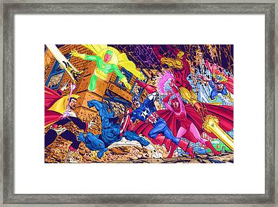 Superhero Collectibles Framed Print by Egor Vysockiy