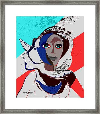 270 - Flashy Woman - Poster 2   Framed Print by Irmgard Schoendorf Welch