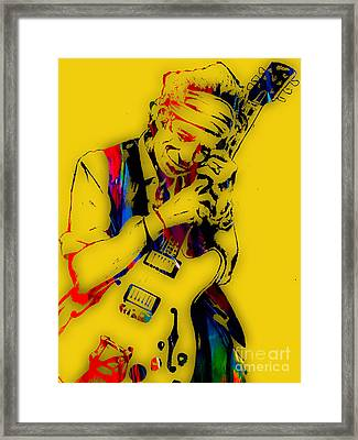 Keith Richards Collection Framed Print by Marvin Blaine