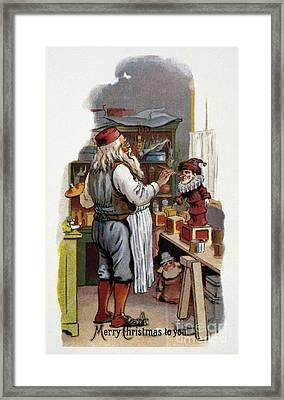 American Christmas Card Framed Print by Granger