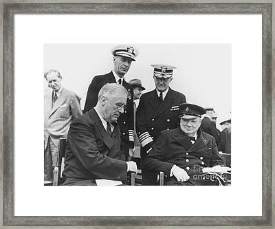 Franklin Delano Roosevelt Framed Print by Granger