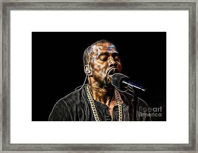Kanye West Collection Framed Print by Marvin Blaine
