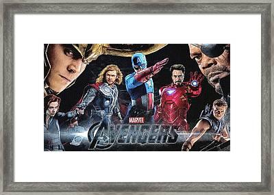 The Avengers Poster Framed Print by Egor Vysockiy
