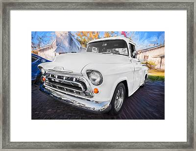 1957 Chevy Pick Up Truck 3100 Series Painted  Framed Print by Rich Franco