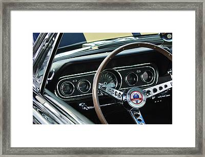 1966 Ford Mustang Cobra Steering Wheel Framed Print by Jill Reger