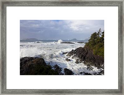 A Stormy Morning On The Wild West Coast Framed Print by Taylor S. Kennedy