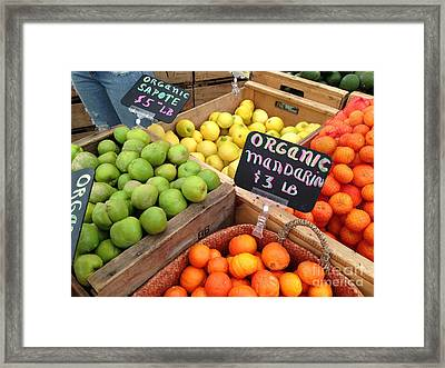 Variety Of Fruit Framed Print by Troy Green
