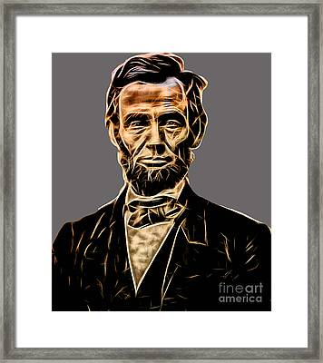 Abraham Lincoln Collection Framed Print by Marvin Blaine