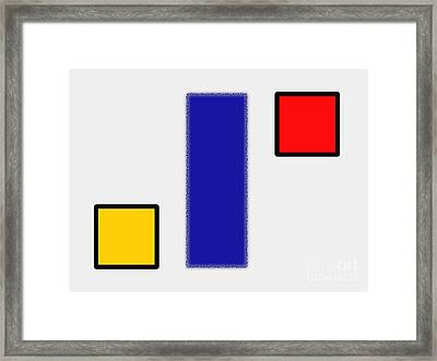Abstract Composition 06 Piet Mondrian Style Framed Print by Celestial Images