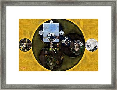 Abstract Painting - Satin Sheen Gold Framed Print by Vitaliy Gladkiy