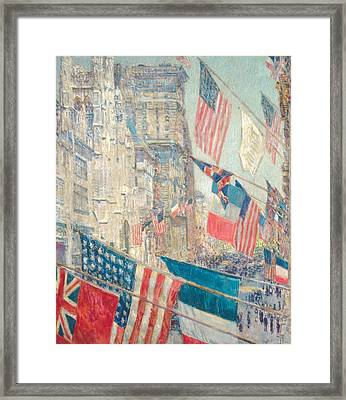 Allies Day, May 1917 Framed Print by Childe Hassam