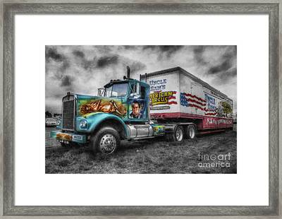 American Circus Truck Framed Print by Ian Mitchell