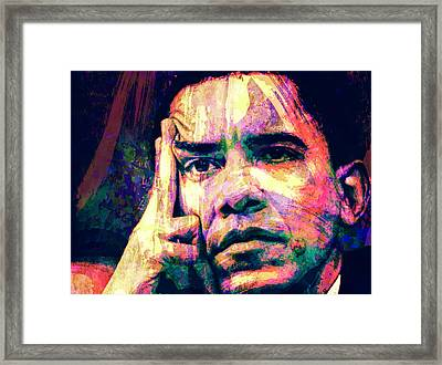 Barack Obama Framed Print by Svelby Art