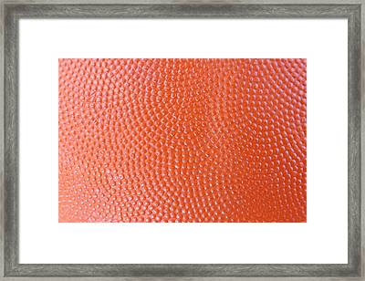 Basketball Texture Framed Print by Les Cunliffe